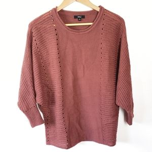 Very J Pink Batwing Pullover Baggy Knit Sweater Md